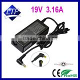 60W 19V 3.16A power supply with connector 5.5*2.5 mm laptop adapter for HP OMNIBOOK 6000 XT1000 PAVILION N5440 battery charger