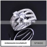 Fashion diamond drill bit engagement ring more round rings wedding ring