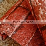 3d Red brick design wall paper wall coverings contemporary wallpaper