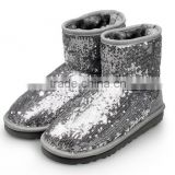silver blk sequins glitter upper eva sole cute child girl snow winter boot shoe, boots shoes kids