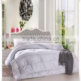 High quality King Size 4Pcs fleece velvet quilted duvet cover solid color bedding set for hotel wholesale