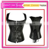 Chest buckles type leather vest type of corsets