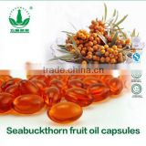 ISO Certifed High Quality Seabuckthorn Fruit Oil Capsules Softgel Essential Oil Health Food Health and Wellness Products