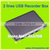 2 line USB for pbx 2-line telephone call recorder usb