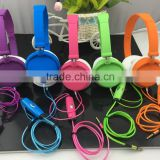 2016 newest earphone headphone el flash light up cable with 3.5 mm jack, colorful headband headphone
