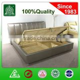 G6627 Household Furniture leather bed design/Lift Up solid wood box Storage/storage wooden box bed design