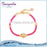 Cheap baby gold enameled latest fashion bracelet