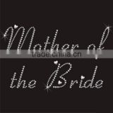 Wedding Mother Of The Bride rhinestone iron on transfer
