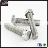 customized Hex Bolt with Hole in Head or end