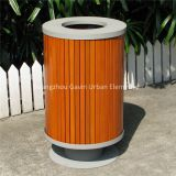 Metal wood outdoor dustbin wooden trash bin/waste bin