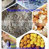 Caramel or Chocolate Coating Popcorn Production Line|Hot Air Puffing Popcorn Machine|Puffed Popcorn Production Line