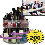 Glam Caddy Large Capacity Crystal Cosmetic 360 Rotating Spinning Acrylic Organizer Makeup
