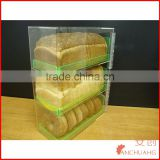 Acrylic Green Neon Trays Bread Donut Bagels Cookie Cupcake Pastry Bakery Storage Display