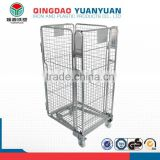 4 sided logistics trolley roll container standard equipment cages wire mesh rolling storage cage collapsible pallet box