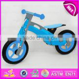 Comfortable Safe wooden bike for kids,Elephant design wooden balance bike,Christmas gift Wooden kids wooden bike W16C123