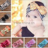wholesale baby stretch hair headband blue fancy sequin bowknot Headband For Girls Headband Pretty Princess Hair Hands
