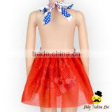 New Model Design Halter Backless Red Type Toddler Girl Birthday Romper Sequined Shine TuTu Puffy Princess Dress