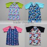 INquiry about Wholesale T-Shirt Baby Ruffle Sleeve Raglan Shirt Kids custom 3/4 colored sleeve printing body T-shirt