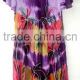 New Umbrella Dresses rayon tops tie & dye umbrella dress beach wear women dress brush hand painted dress cotton long boho cloth