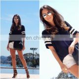 special hem design irregular girls shirt preppy style china women clothing factory