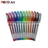 China Factory Cheap Free Samples Gel Pen Set Metalic Glitter Neon Pastel Gel Pen for Drawing