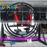 funny 2 rings gyroscope , gyroscope machine for amusement or playing