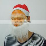 Soft chrismas father latex mask .cosplay party decoration