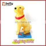 Funny yellow dog custom pvc vinyl toy