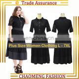 8018# Black Short Sleeve Dresses Women Summer Elegant Long One Piece Dress Plus Size Clothing