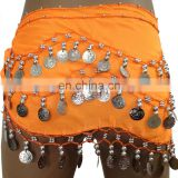BestDance girls bellydance hip scarf tribal belly dance hip scarf sexy sequin hip scarf for kids OEM