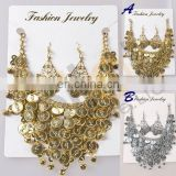 BestDance Tribal Necklace+Earring Jewelry Choker Dance Costume golden/silver coins