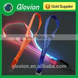 New Design double optical fiber LED flashing lanyards for party