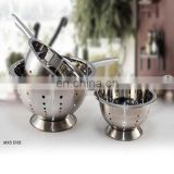 Stainless Steel Vegetable Colander With Foldable Handle