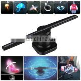 wifi app mini projector jewelry shop name board designs 3d hologram display holographic 3d led fan display