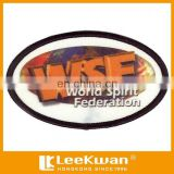Embroidery heat transfer patch, brand logo patch dye sublimated patch with merrowed border