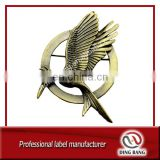 Eco-friendly OEM Military Cluth Type And Brooch Souvenir Use Custom Bird Unfading Bronze Ancient Decorarion Badge
