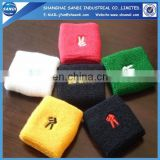 promotion basketball cotton sweatband wristband for wrist support