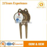 golf gift for repair tool and ball marker with logo