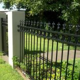 finial top iron fence design house metal fencing panels