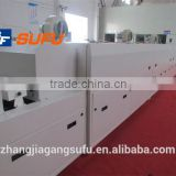 Food, metal, rubber and plastic products such as tunnel ovens, tunnel drying lines, conveyor dryer
