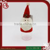 Christmas Gift Bag Sanya Claus Shape Candy Bottle For Party Decoration Tall Cartoon Candy Box