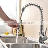 Good Build Quality Chrome Monobloc Kitchen Sink Mixer Tap Swivel & Spring Spout Pull Out Bar Taps