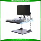 Adjustable height standing desk electric standing desk with keyboard tray