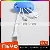 Mobile phone sync charger telescopic data cable set