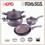 Purple Marble coated cookware set