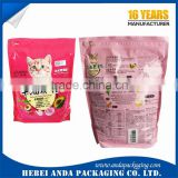 Custom Design Stand up Pouch with Zipper for Cat Food Packaging/ Aluminum Foil Doypack Bag of PET Food Packaging Bag