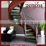 curved wood spiral staircase design