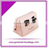 Nice Quality pink color with Glossy PVC Cosmetic Bag                                                                         Quality Choice