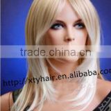 aliexpress hair wholesale 100% brazilian remy human hair wig for women light blonde color real hair wig