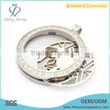 Clear om coin locket pendant